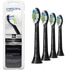 4x Philips Sonicare Diamond Clean Black Electric Toothbrush Heads HX6064/33