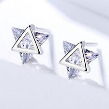 Ohrstecker Dreieck Zirkonia echt Sterling Silber Damen Ohrringe
