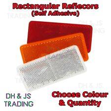Rectangular Reflectors Red Amber Clear Adhesive Trailer Caravan (94mm x 44mm)