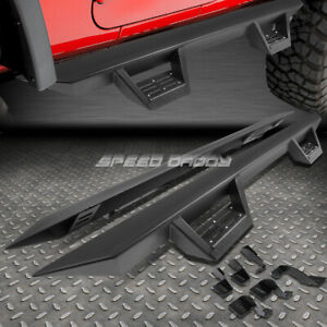 "FOR 05-20 TACOMA DOUBLE CREW CAB 3"" SIDE BAR NERF RUNNING BOARDS+DOWN STEP PAD"