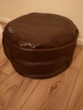 Genuine Leather Pouffe Moroccan Handmade New Brown