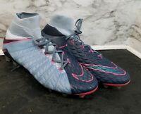 Nike Hypervenom Phantom 3 Size 12.5 FG ACC Soccer Cleats Armory Blue Black Pink