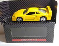 SHELL COLLEZIONE - DIECAST - FERRARI F40 - YELLOW - BOXED