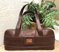 Lauren Ralph Lauren Brown Leather Large Baguette Handbag Shoulder Bag VGC