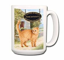 Scottish Fold Cat a House is Not a Home Extra Large 15oz Coffee Mug No 1