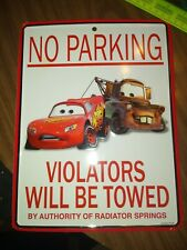 Disney Cars No Parking Sign 10.75x 8.5