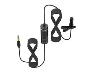 Condenser Clip-on  Mic with windscreen  black for phone & camera