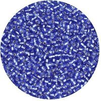Czech Seed Beads E Beads 6//0 Frosted Silver Lined Sapphire Mix 15g 10106056