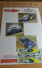 DÉCALS Promo  1/43 réf 771 Subaru WRC SOLBERG NOUVELLE ZÉLANDE 2004