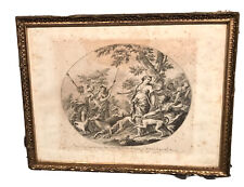 Antique Vintage Bartolozzi (Italian, 1727-1815) After Gabbiani 1652-1726 Etching