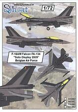 Syhart Decals 1/72 F-16AM FALCON SOLO DISPLAY 2009 Belgian Air Force