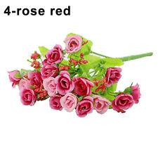 1 Bouquet 21 Head Artifical Plastic Rose Wedding Office Home Decor Silk Flowers