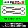 PC5-132 fits VW  POLO 2002> RADIO REMOVAL RELEASE EXTRACTION KEYS X 4