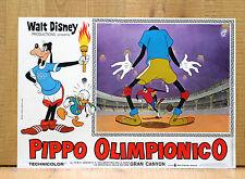 PIPPO OLIMPIONICO fotobusta poster affiche Disney Superstar Goofy Basket BA8