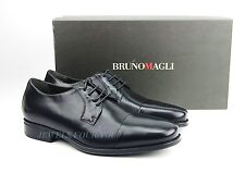 BRUNO MAGLI BLACK HANDMADE OXFORDS SHOES 100% LEATHER LACES ITALY NEW SZ 9 # 68