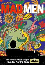 Mad Men Season 7 TV Poster (24x36) - Jon Hamm, Elisabeth Moss - Final Season NEW