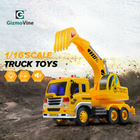 1:16 Excavator Digger Trucks Engineer Construction Cars Kids Toys Gifts + Sound
