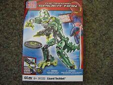 Mega Bloks 91332, Spiderman Lizard Techbot, 44 Teile, Neu, OVP, RAR