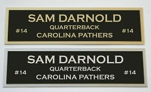 Sam Darnold nameplate for signed autographed jersey football helmet or photo