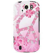 Rubberized Protector Case Cover for HTC myTouch 4G Slide - Peace & Love