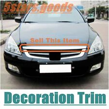 Accessory Chrome Front Bonnet Grille Molding Trim For Honda Accord 2003-2007