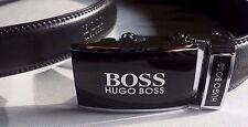 Hugo BOSS Cintura in Pelle colore Nero automatico fibbia