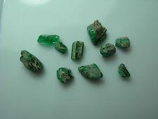 10 rare reverse Trapiche Emerald partial Crystals Type II Muso Chivor Colombia