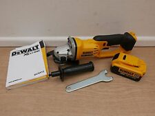 "DEWALT XR 18V DCG412 5"" 125MM ANGLE GRINDER BARE UNIT + DCB182 4 AH BATTERY"