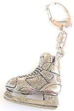 Ice Hockey Boot Handcrafted from Solid Pewter In the UK Key Ring