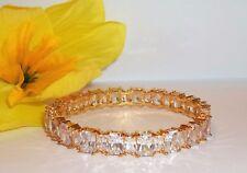 NOS Gold Tone Seta Women's Fashion  Bangle Bracelet Swarovski Crystal