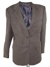 giacca blazer donna marrone glen check made italy pura lana taglia it 42 medium