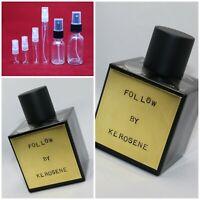 KEROSENE FOLLOW Authentic SAMPLE 1ml 2ml 3ml 5ml 10ml 15ml NICHE Glass Spray