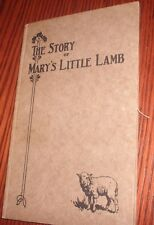 "1928 1st EDITION - ""THE STORY OF MARY'S LITTLE LAMB""-Henry Ford Publisher"