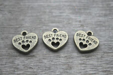 20pcs Best Friend Charms Bronze Tone with Heart Dog Paw charm pendants 15x15mm