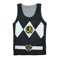 Power Rangers Black Ranger Costume Reversible Mesh Tank Top
