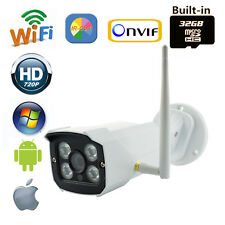 Security 720P 1.0 MP IR Wireless AP IP Camera 32 SD Card Outdoor Audio I/O HD