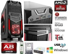 PC Desktop COMPLETO Gaming AMD A8 Quad Core 3.8Ghz RAM 8GB HD 1TB VGA RADEON R7