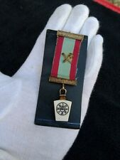 Masonic Medal With Small Map