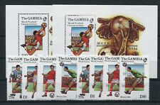 Gambia 621 + 645/48 Block 23 + 28 postfrisch / Fußball ....................2/790