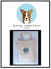 Little Dog Heartbeat Handprinted Custom Tote Bag