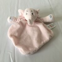 Tesco F&F Pink Elephant Baby Comforter Blankie Soother Soft Hug Toy