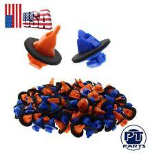 100PC 75395-35070 Orange & Blue Moulding Trim Clips for Toyota Tacoma FJ Cruiser