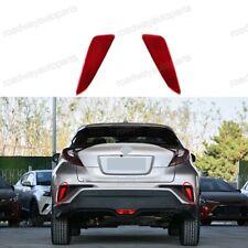 Rear Left & Right Side Bumper Marker Lights Reflector for Toyota C-HR 2018-2019