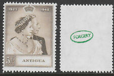 ANTIGUA (880) 1949 KG6 Royal Argenté Mariage 5S - A Maryland Faux inutilisé