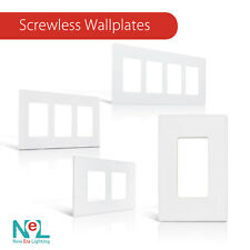 Screwless Wallplate 1-4 Gang, White, Switch Plate Outlet Cover