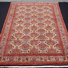 Orient Teppich Floral 362 x 243 cm Vasenmuster Beige Rot Blau Carpet Rug Tapis