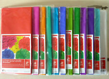 (0,83€/qm) Seidenpapier 5 Bögen 50x70cm farbig oder weiß(10 Bögen) Bastelpapier