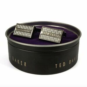 Ted Baker Roosted White Carbon Fibre Cufflinks