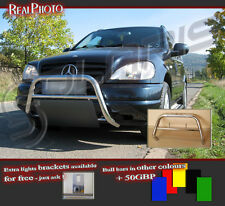 MERCEDES ML 98-01 LOW BULL BAR WITHOUT AXLE BARS +GRATIS!! STAINLESS STEEL!