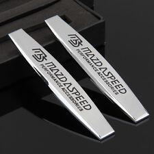2pcs Top MS Sports 3D Auto Aufkleber Emblem Schriftzug für Schutzblech chrome